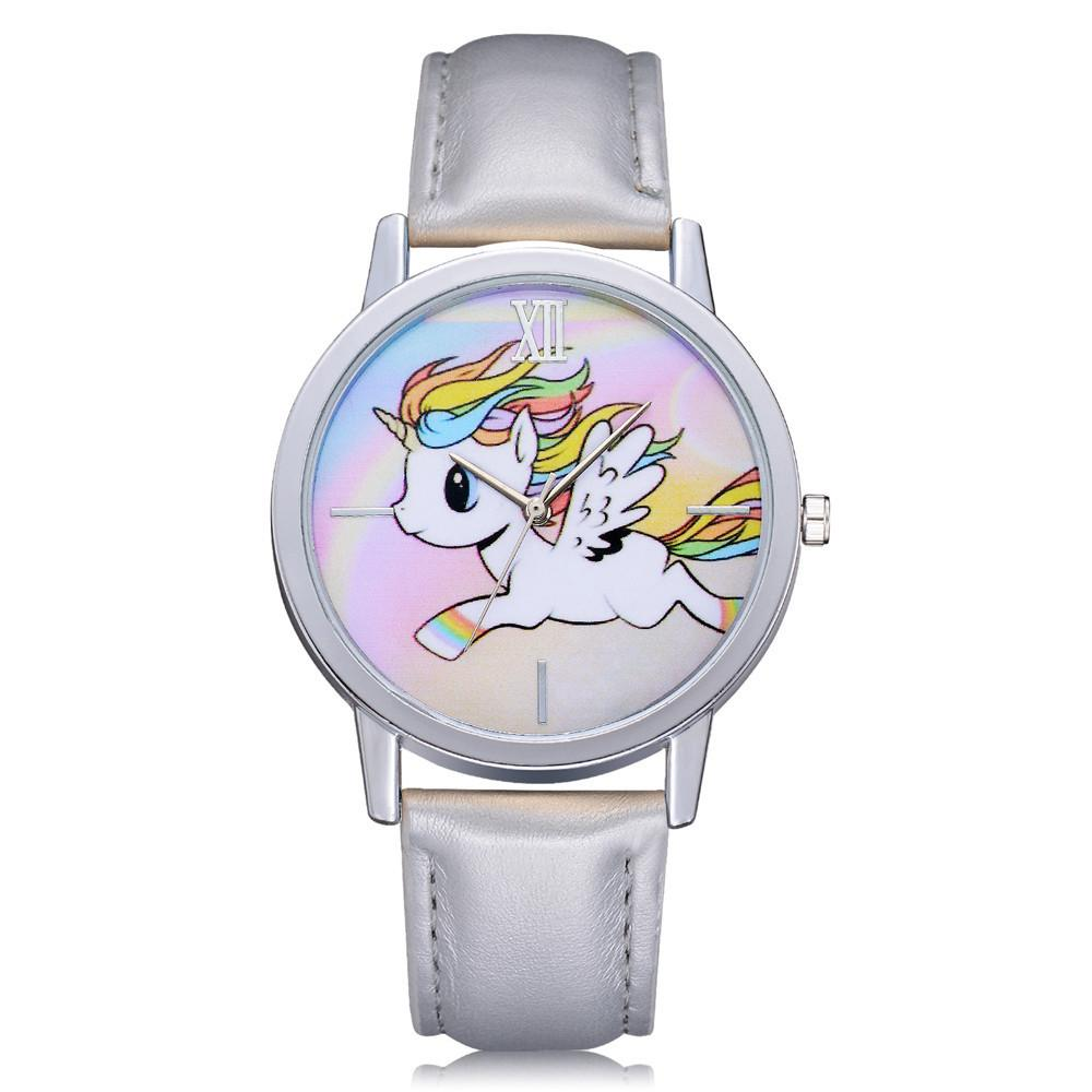 Leather Strap Unicorn Watch