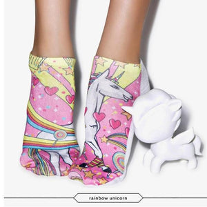 Rainbow Unicorn 3D Graphic Socks