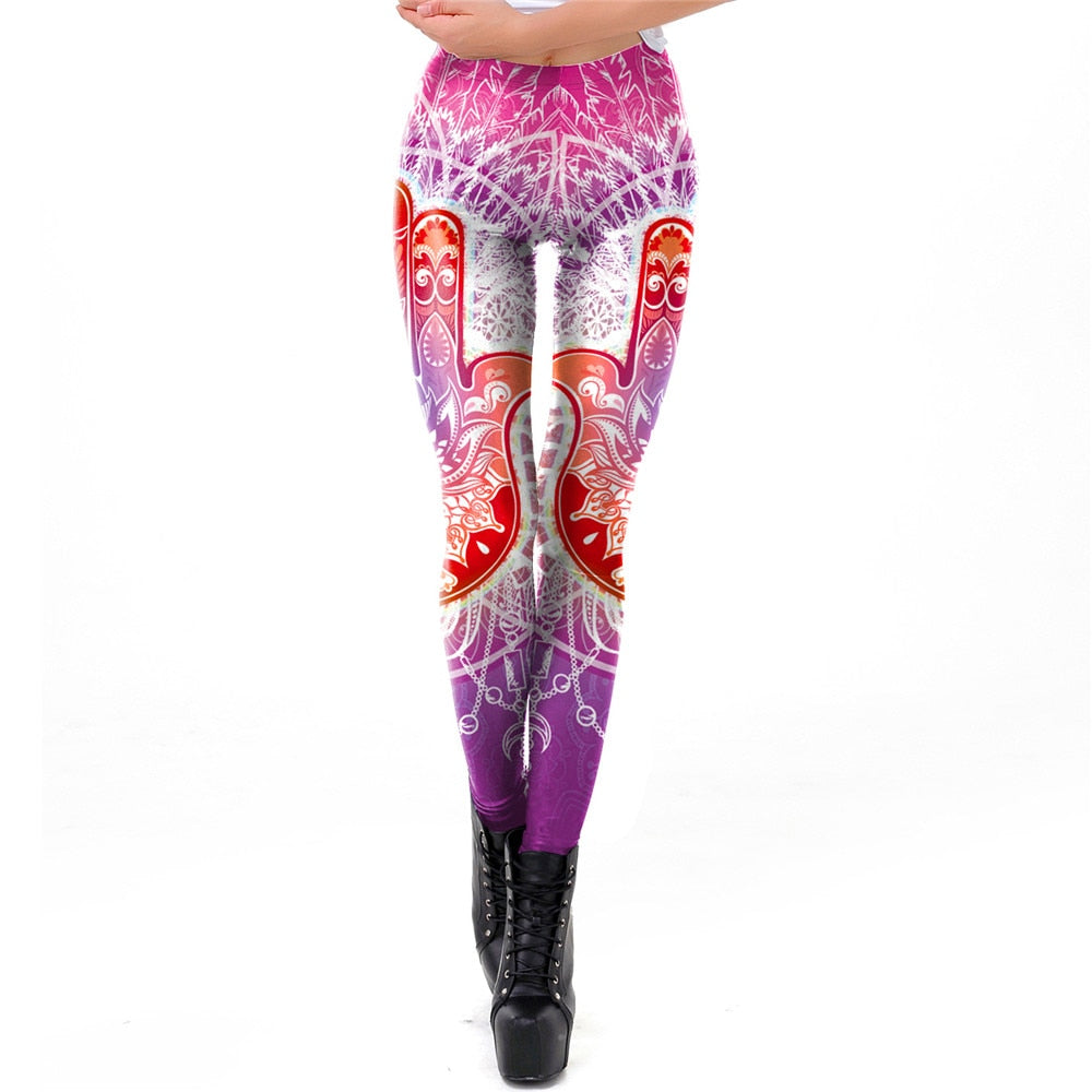 Lotus Flower Workout Leggings