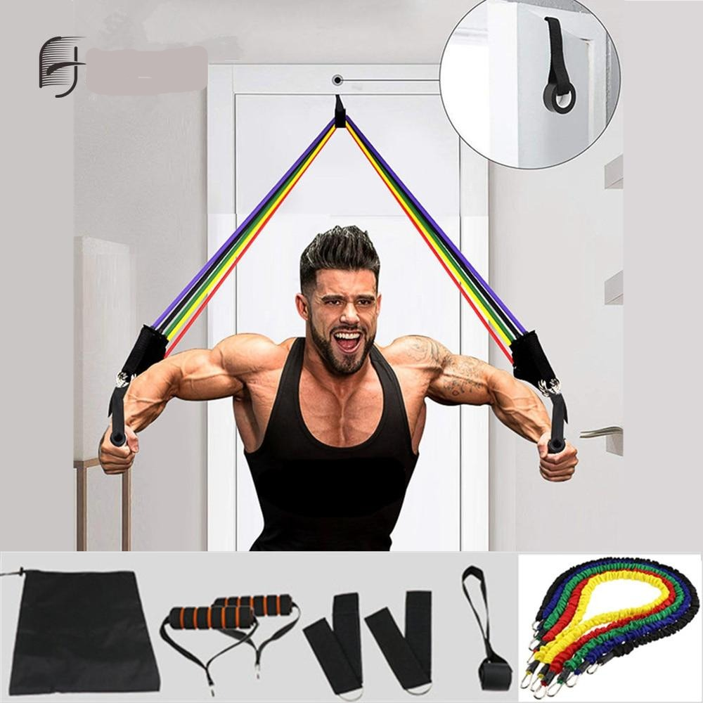 Exercise Bands Set with Door Anchor Unisex