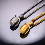 Hand Grenade Pendant Necklace