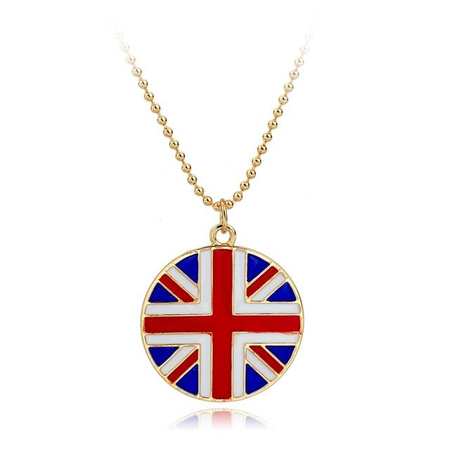 United Kingdom Flag Pendant & Necklace