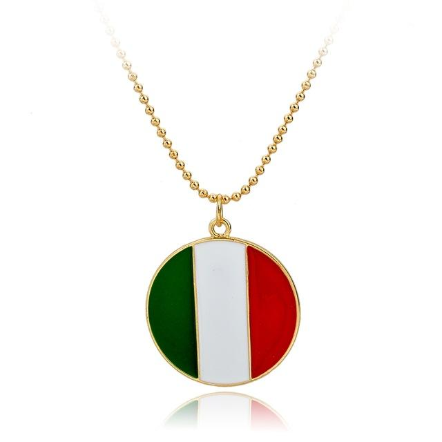 Italian Flag Pendant & Necklace