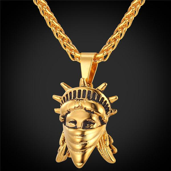 Rebel Statue Of Liberty Necklace