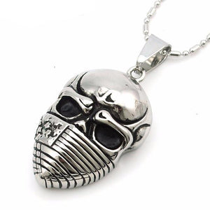 American Flag & Skull Necklace