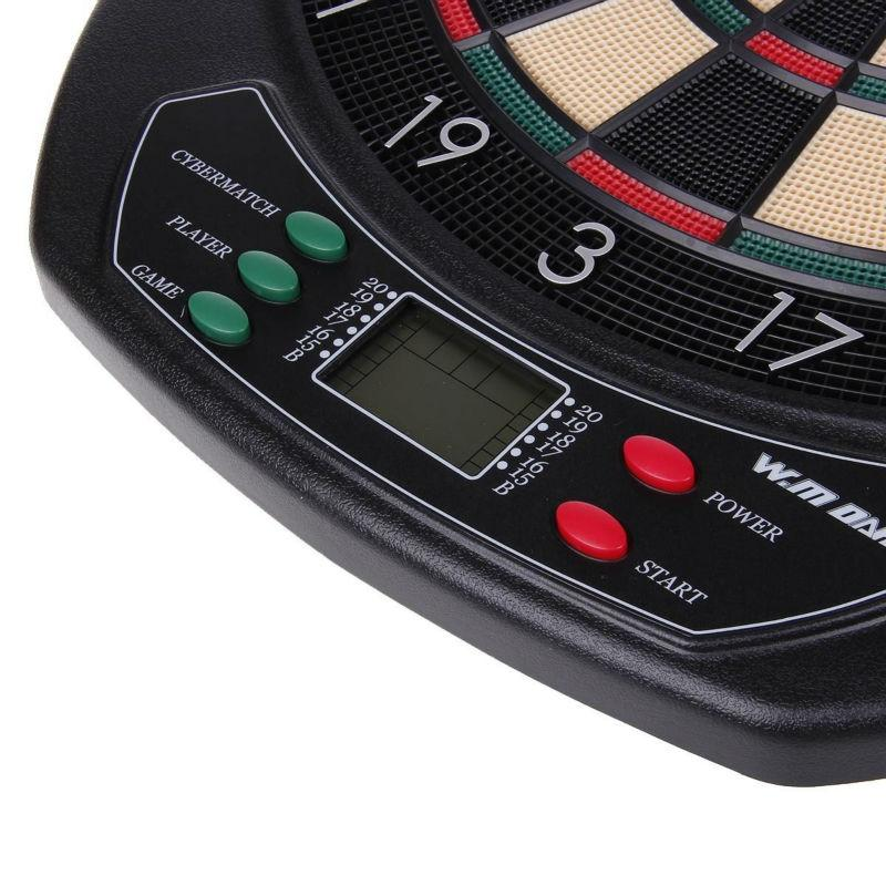 LED Electronic Dart Board & 6 Darts
