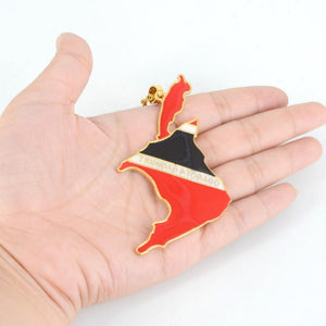 Trinidad and Tobago Flag &  Map Necklace