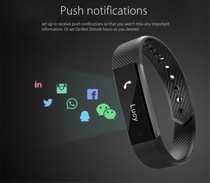 Slimline Heart Rate Fitness Tracker Watch