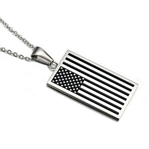 USA Flag Pendant with Necklace