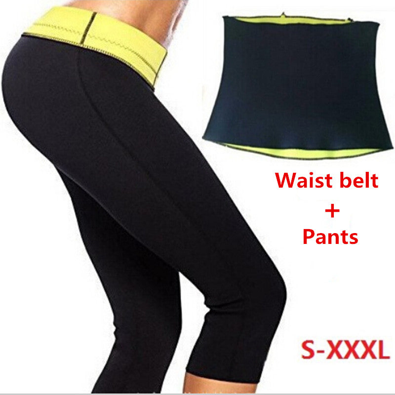 Neoprene Hot Shaping Pants + Belt