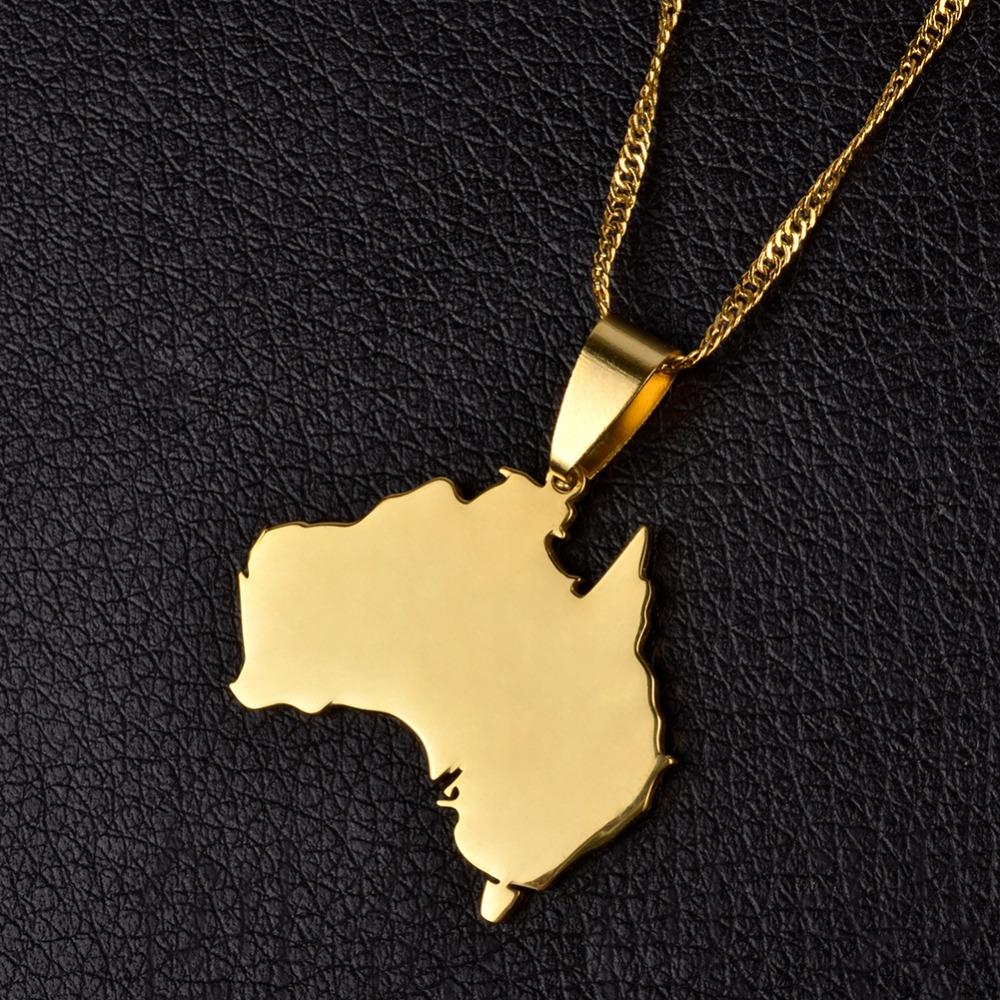 Australia Map Pendant & Necklace