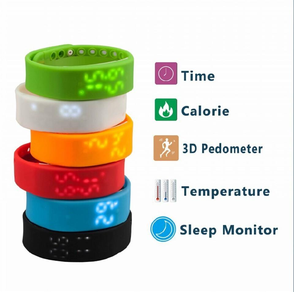 Multi-Functional Led Silicon Wristband