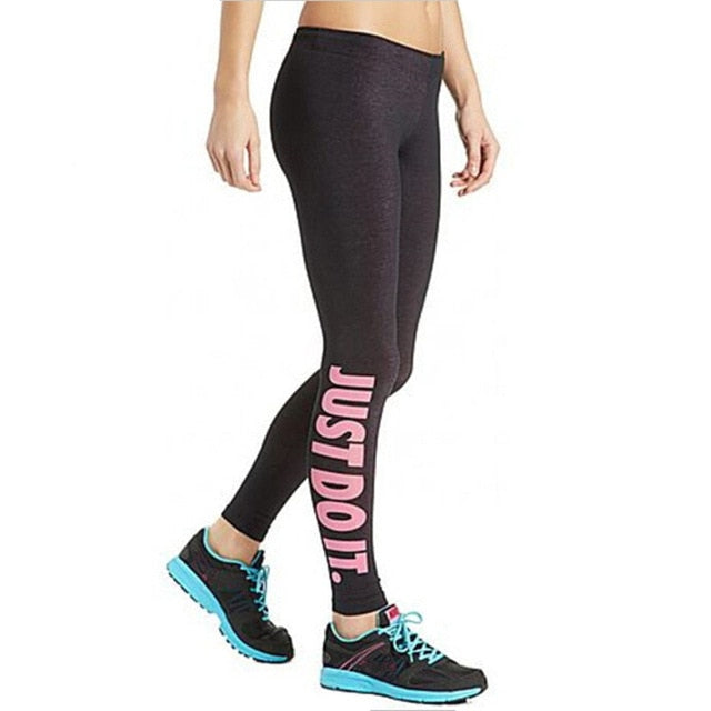 Just Do It Workout Fitness Legging Plus size