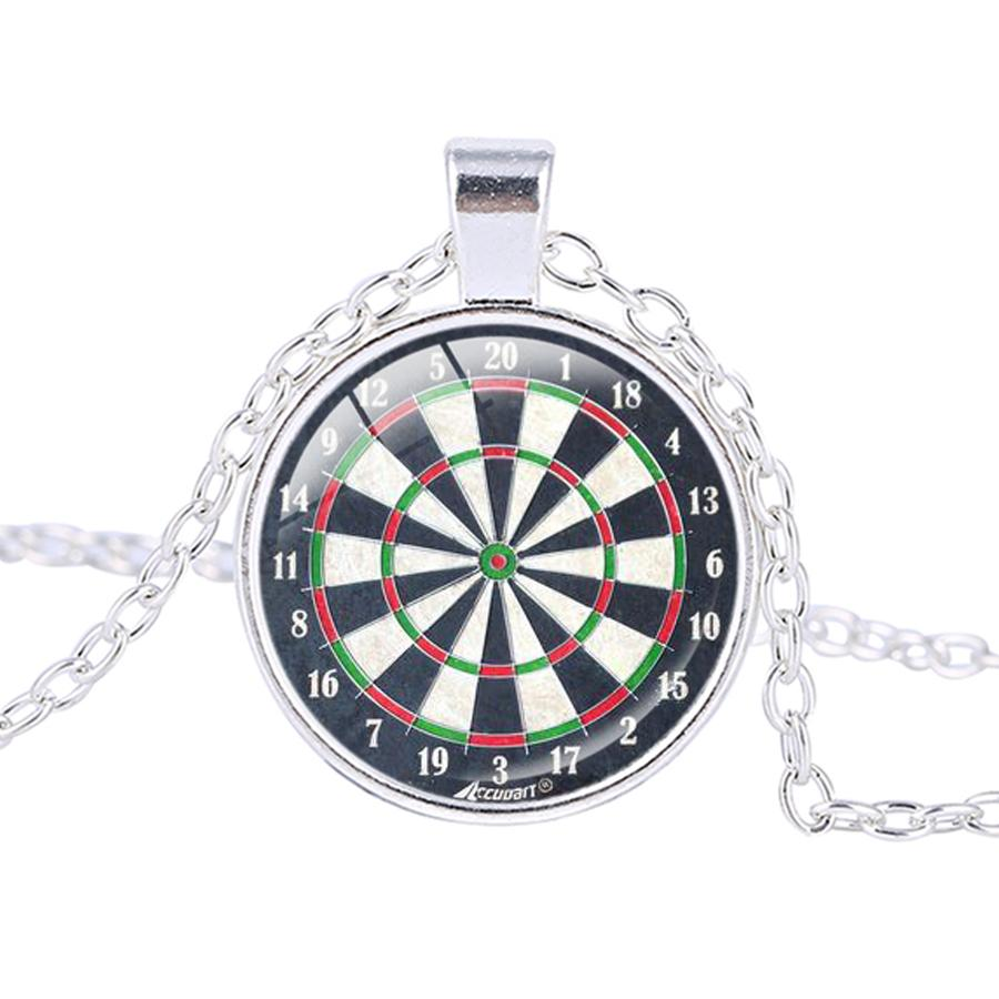 Dartboard Pendant Necklace