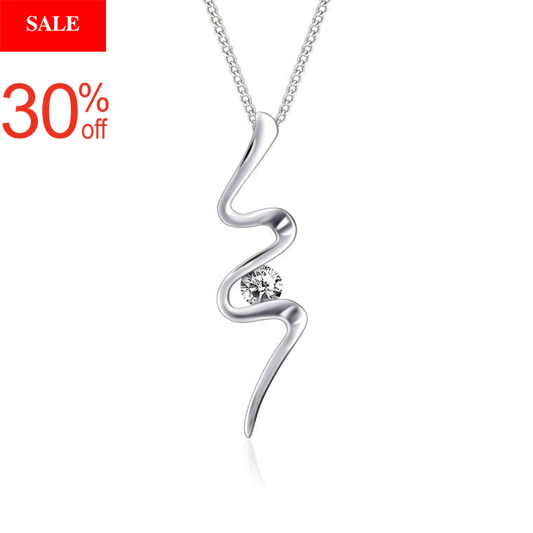 18K White Gold & Diamond Pendant