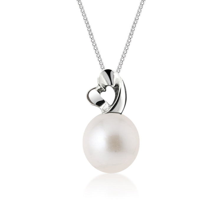 """South Pacific"" 18K White Gold & Diamond Cultured Pearl Pendant"