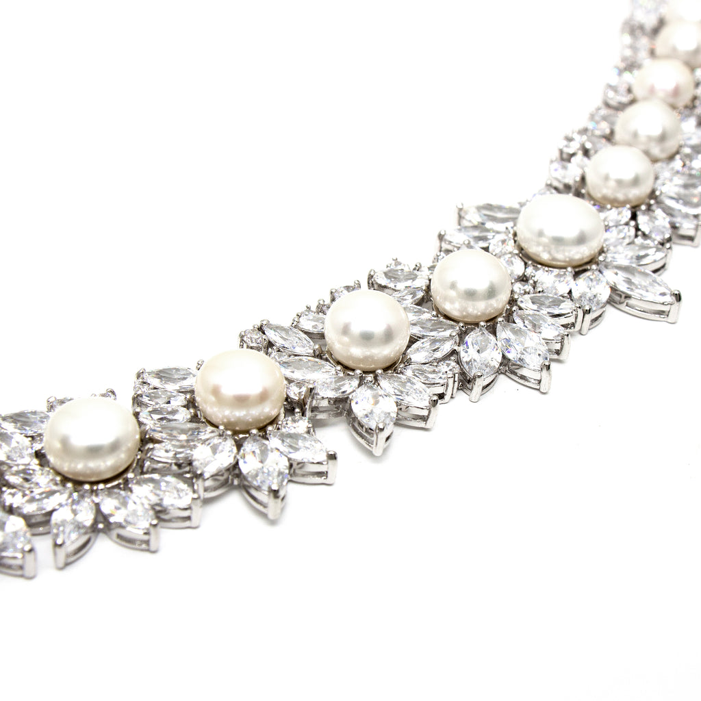 Lotus Opulence Cultured Pearl Necklace