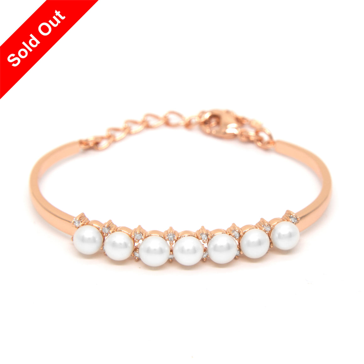 """Morning Dew"" Cultured Pearl Bangle"