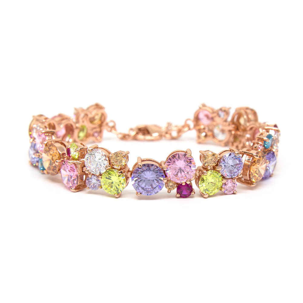 """Glitter Glamour"" Rose Gold Plating Crystal Bracelet"