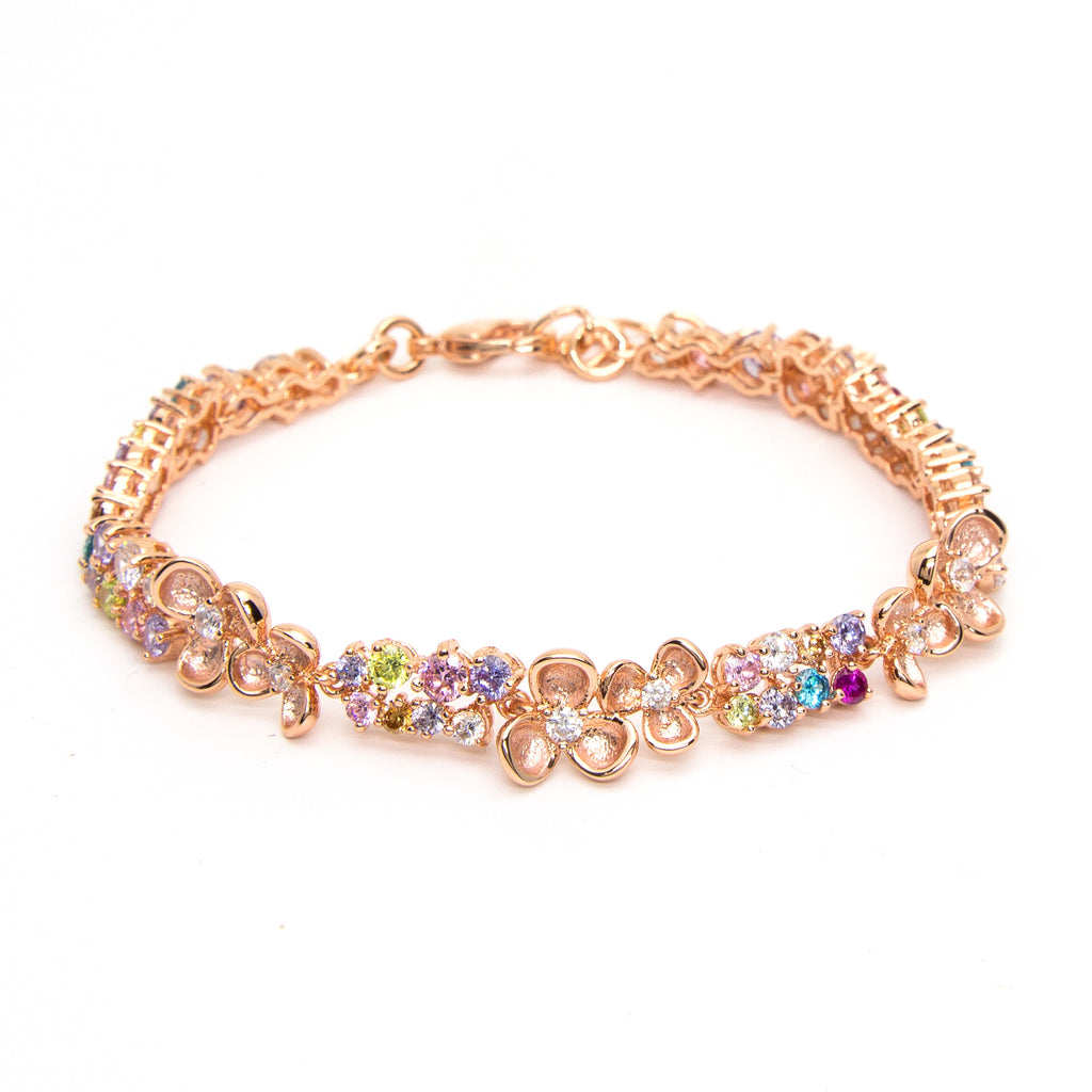 """Eden"" Rose Gold Plating Crystal Bracelet"