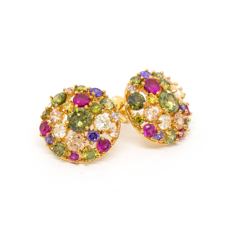 """Glitter Glamour"" 18K Gold Plating Crystal Earrings"
