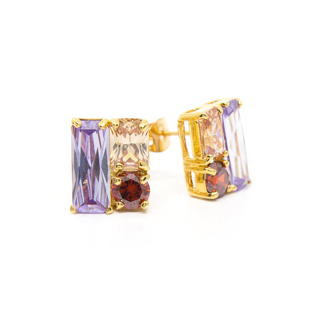 """Glitzy Ritzy"" 18K Gold Plating Crystal Earring"