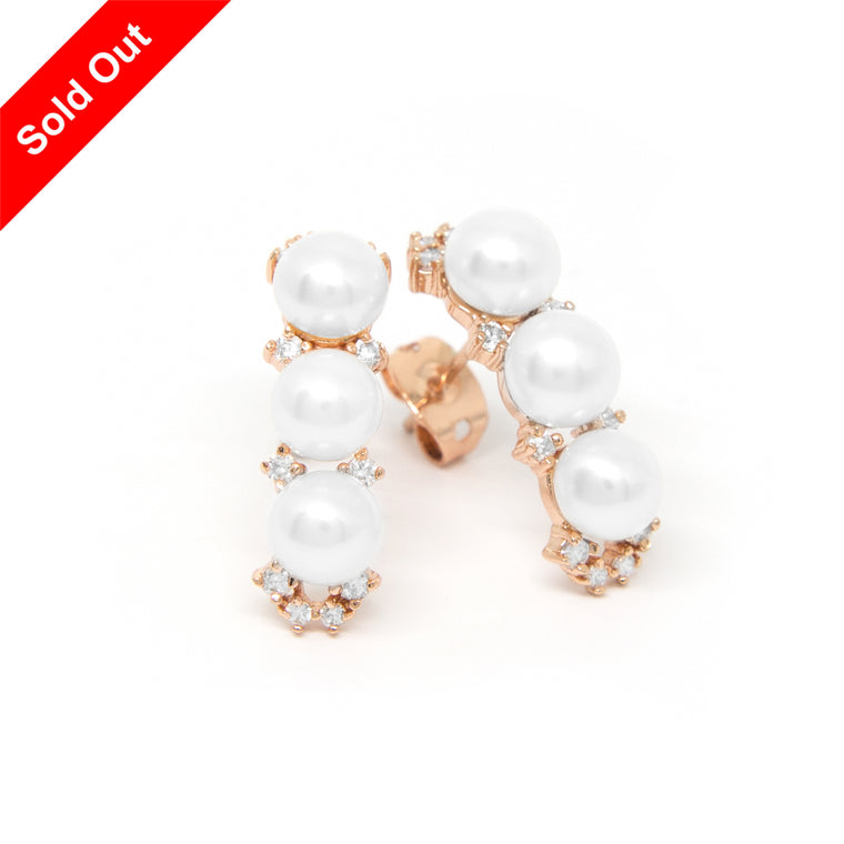 """Morning Dew"" Cultured Pearl Earrings"