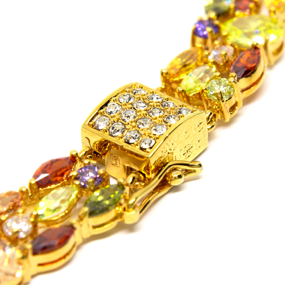 """Glomesh"" 18K Gold Plating Crystal Necklace"