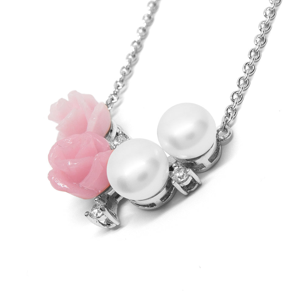 ''La Vie en Rose '' Cultured Pearl Necklace