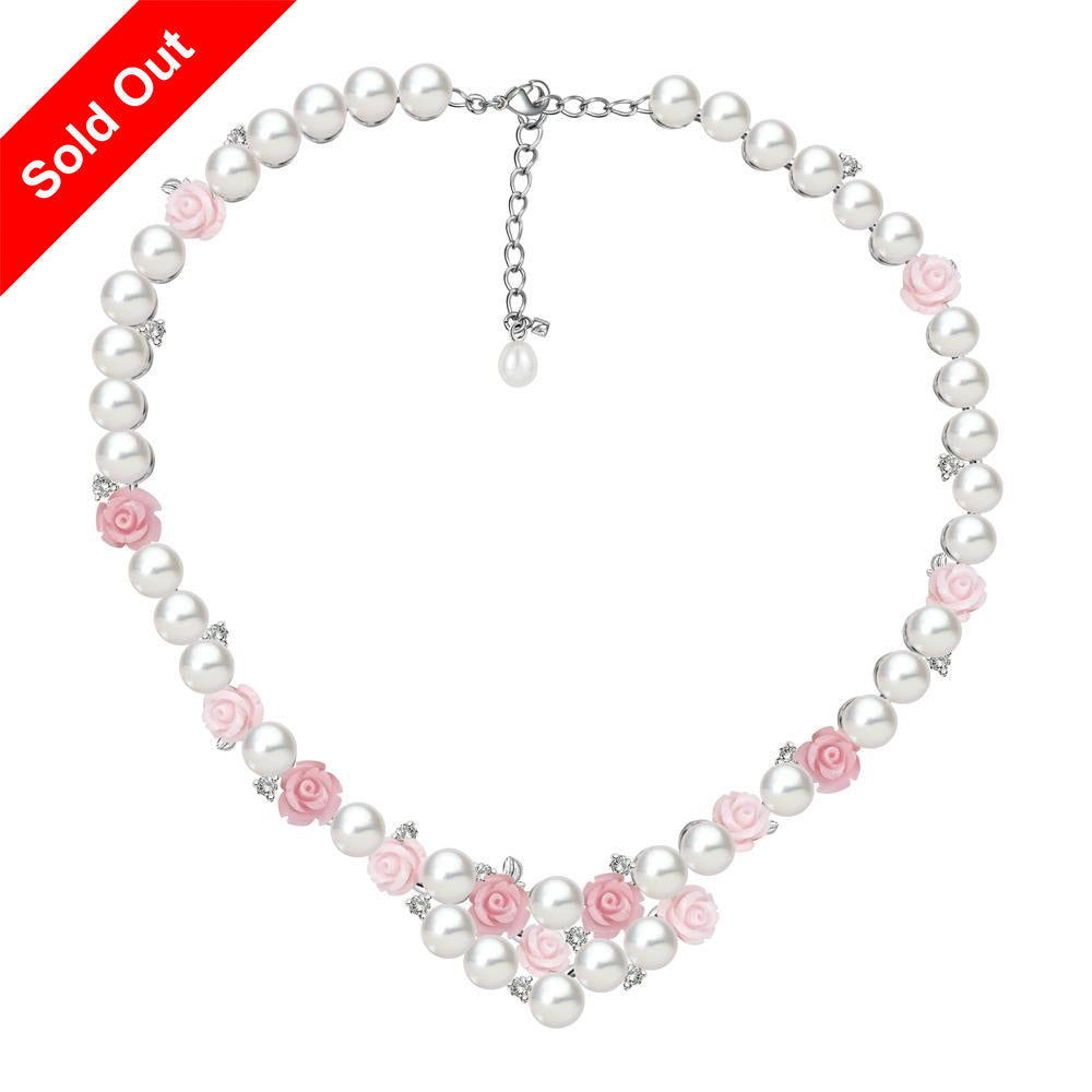 """La Vie en Rose"" Cultured Pearl Necklace"