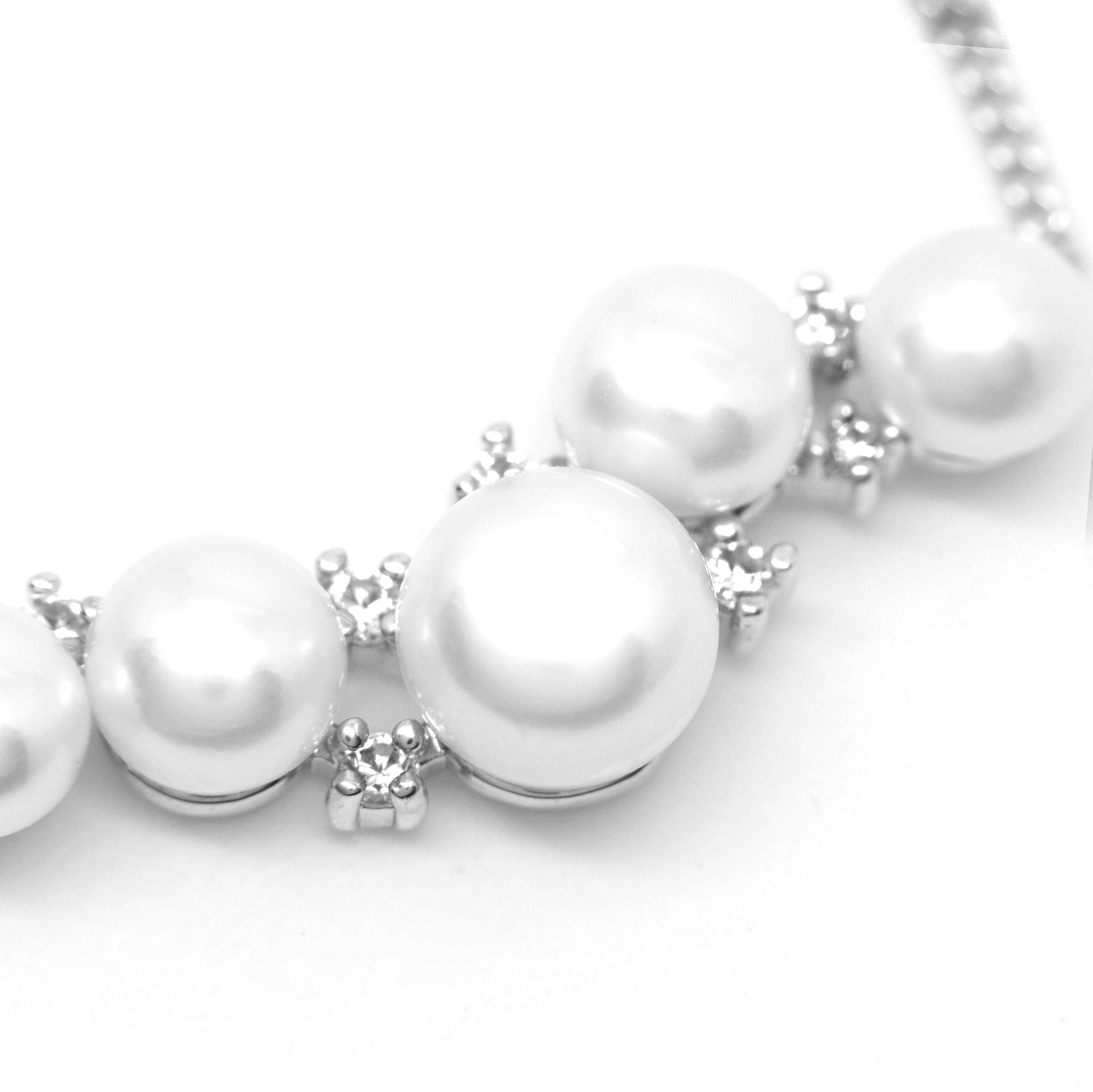 girls necklace silver pearl large products pearls oversized jewellery grey satin white