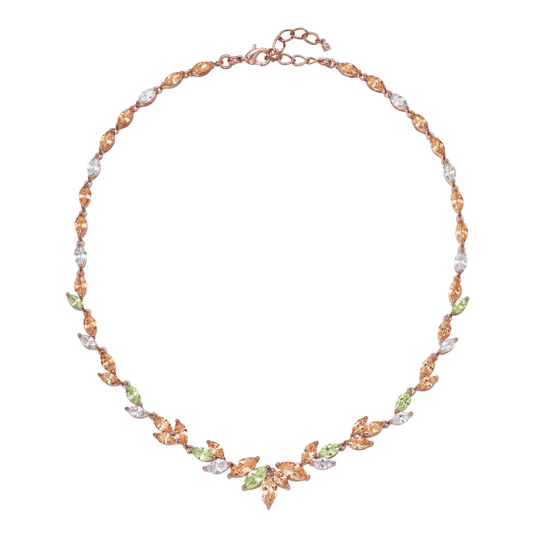 """Siena Sunrise"" Crystal Necklace"