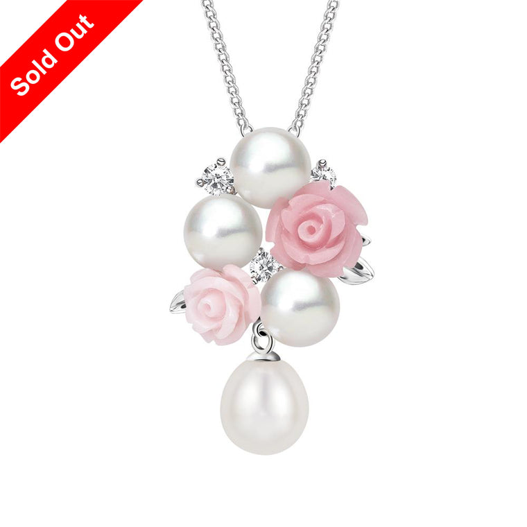 """La Vie en Rose"" Cultured Pearl Pendant"