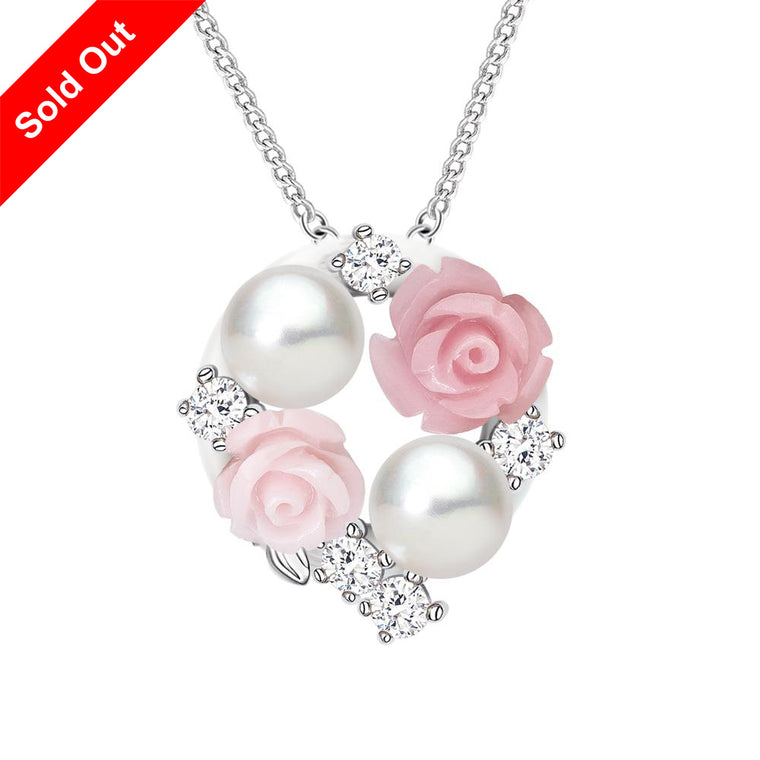 ''La Vie en Rose'' Cultured Pearl Pendant