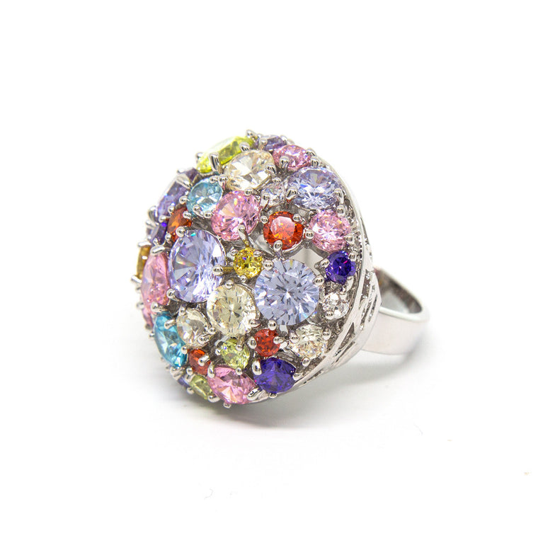 """Glitter Glamour"" Crystal Ring"