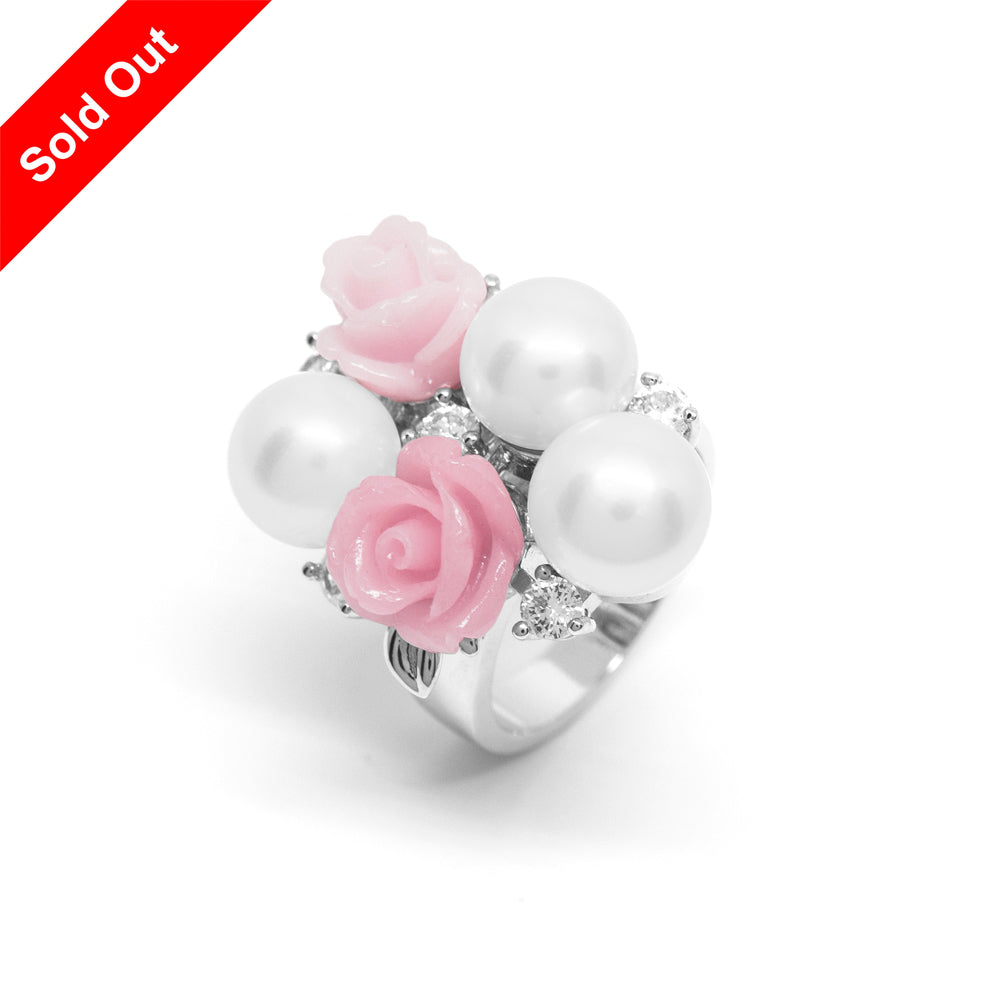"""La Vie en Rose"" Cultured Pearl Ring"