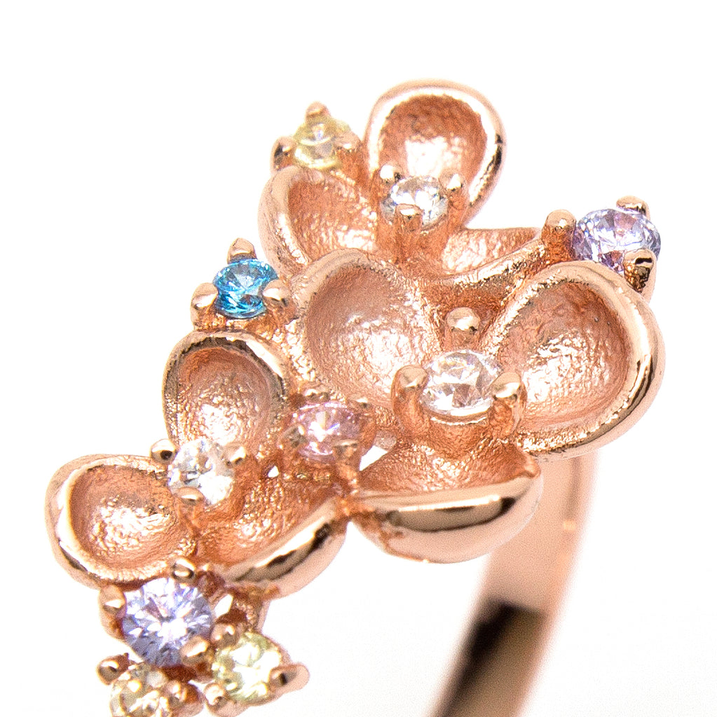 """Eden"" Rose Gold Plating Crystal Ring"