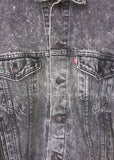 Levi's Black Wash Denim Jacket XL