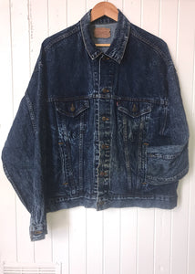 Levi's Dark Acid Wash Denim Jacket XL