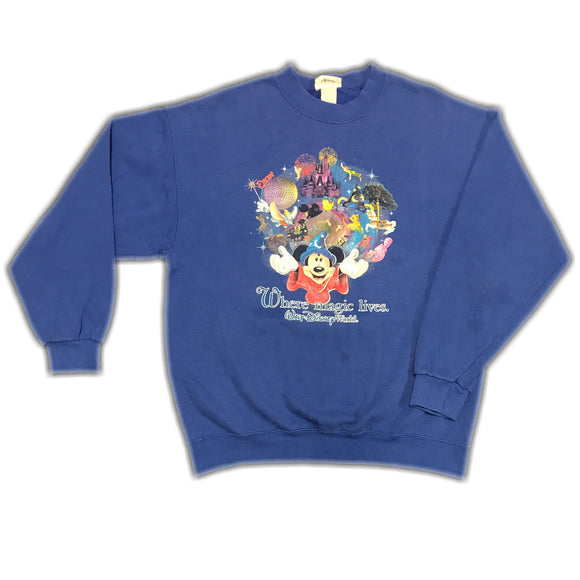 Disney World Magic Sweatshirt Wmns Large Mens XS