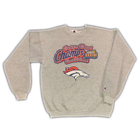 NFL 2003 Super Bowl Broncos Sweater Kids XL Wmns XS