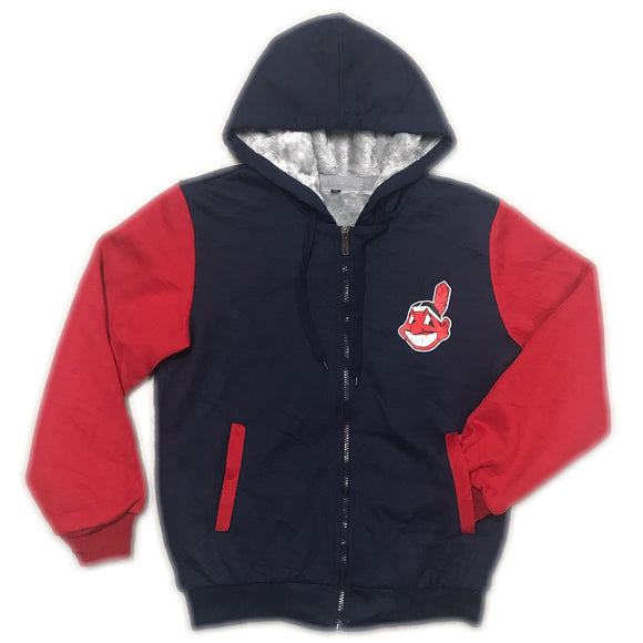 MLB Cleveland Indians Lined Hoody Wmns Medium