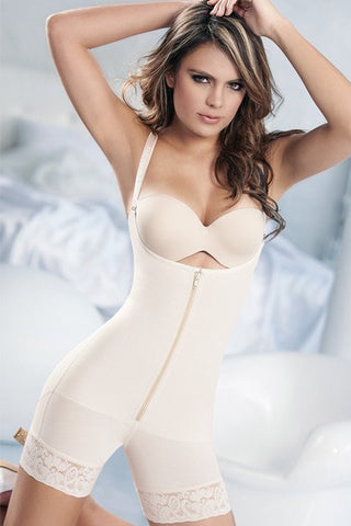 17ccd7e5b ISABELLA CLIP AND ZIP FULL BODY SHAPER. ATENAS ZIPPER BOOTY SHORTS BODY  SHAPER