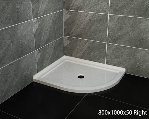 ELEGANT SHOWERS Extra Strong Acrylic Fiberglass Curved Shower Base-800x1000mm - Elegant Showers