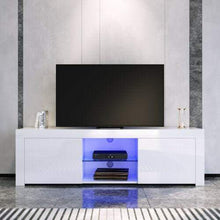 ELEGANT TV Cabinet LED Entertainment Units Storage Stand Gloss White 1500mm - Elegant Showers