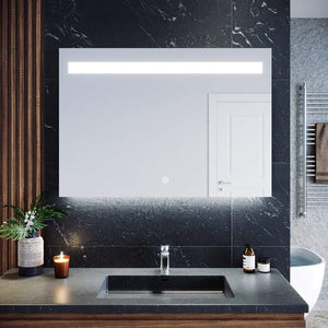 ELEGANT SHOWERS 1000x700mm Bathroom LED Mirror Touch Switch - Elegant Showers