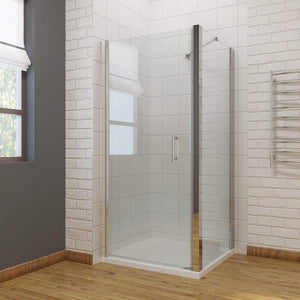 ELEGANT SHOWERS Bathroom Frameless Pivot Shower Screen - Elegant Showers