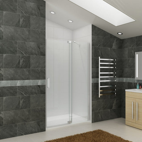 Fully Frameless Shower Screen Pivot Door - Elegant Showers
