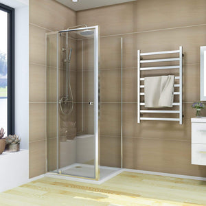 ELEGANT SHOWERS Semi-Frameless Pivot Shower Screen Cubical Adjustable - Elegant Showers