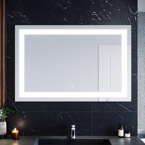 1200x800mm Bathroom LED Mirror Wall mounted Anti Fogging High definition